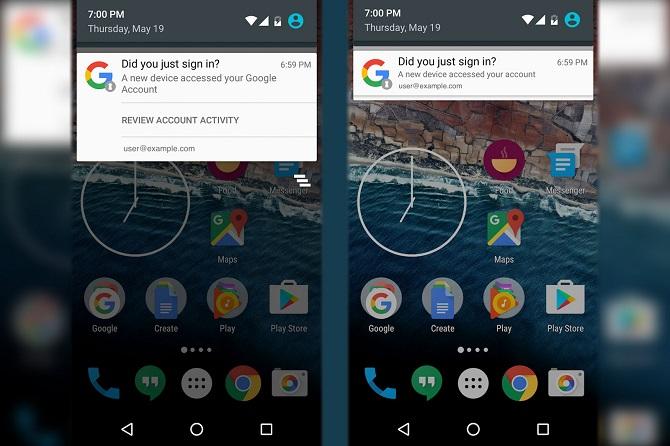Android sẽ cảnh báo khi có thiết bị đăng nhập vào tài khoản Google