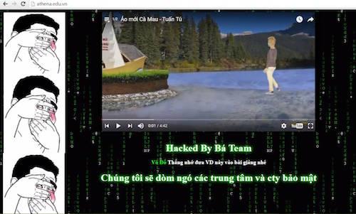 Website Trung tâm an ninh mạng Athena bị hacker tấn công