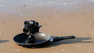 Mẹo dùng… chảo để chụp ảnh từ góc thấp