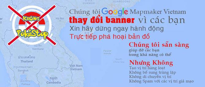 Google Maps tại Việt Nam bị người chơi Pokémon GO phá hoại nghiêm trọng