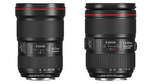 Canon sắp ra bộ đôi ống kính 16-35mm f/2.8L III và 24-105mm f/4L IS II