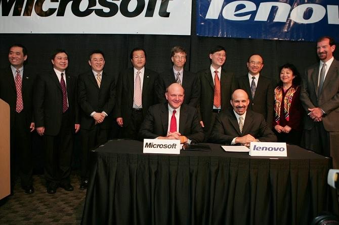 Lenovo và Microsoft đạt thỏa thuận cấp phép chéo
