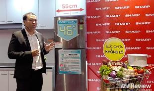Sharp giới thiệu tủ lạnh tiết kiệm điện với công nghệ J-Tech Inverter