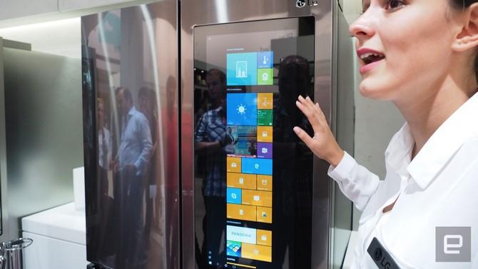 Tủ lạnh chạy Windows 10 của LG
