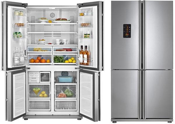 Tủ lạnh thép không gỉ Teka bốn cánh