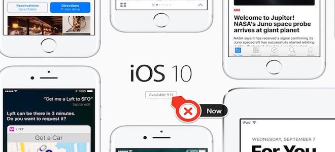 Cách nâng cấp lên iOS 10 ngay bây giờ