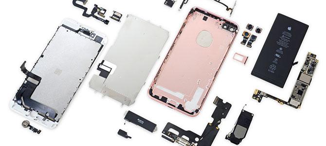 Mổ iPhone 7 Plus: RAM 3GB của Samsung, pin 2900 mAh, điểm 7/10 về độ dễ sửa