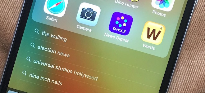 Tắt lịch sử tìm kiếm Spotlight trên iOS 10