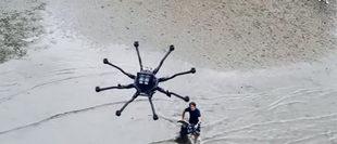 Làm mới với trò chơi lướt sóng bằng drone