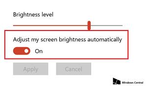 Hướng dẫn tắt tính năng tự điều chỉnh độ sáng màn hình trên Window 10