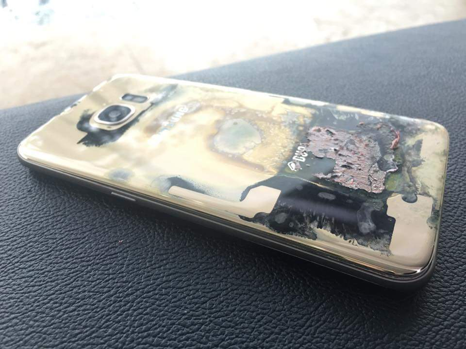 Samsung Galaxy S7 Edge bốc cháy tại Philippines