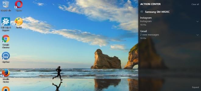 Windows 10 nhận thông báo Android