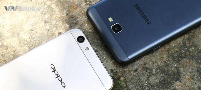 Đọ hiệu năng Galaxy J7 Prime và Oppo F1s: cái giá của màn Full-HD