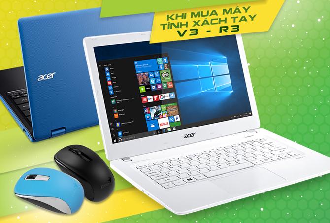 Mua laptop Acer - tặng ngay chuột không dây