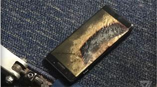 Galaxy Note 7 thay mới lại bốc cháy ngay trên máy bay