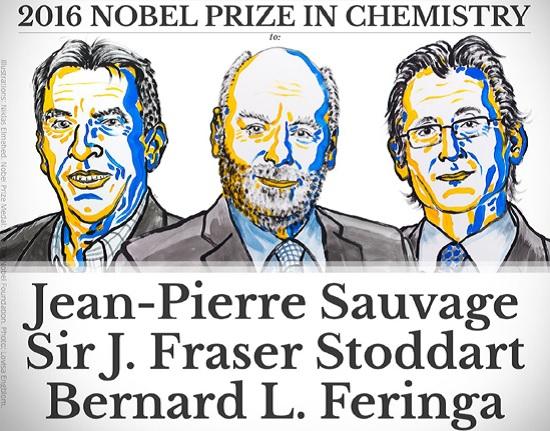 Giải Nobel Hóa học 2016 vinh danh máy phân tử - ảnh 1