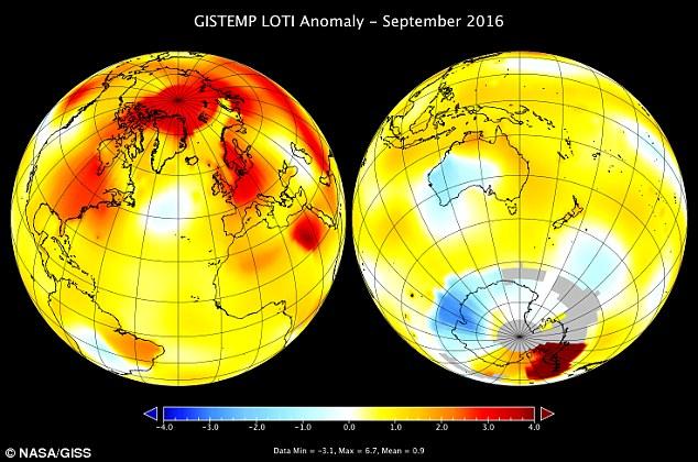 Tháng 9/2016 nóng nhất trong vòng 136 năm