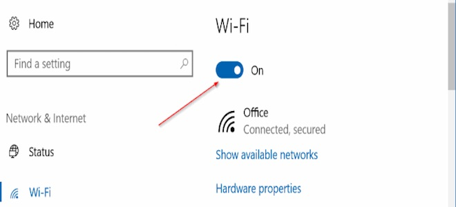Hẹn giờ bật Wi-Fi trên Windows 10