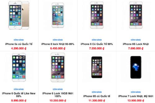 iPhone 6s giá 7 triệu đồng tràn về Việt Nam