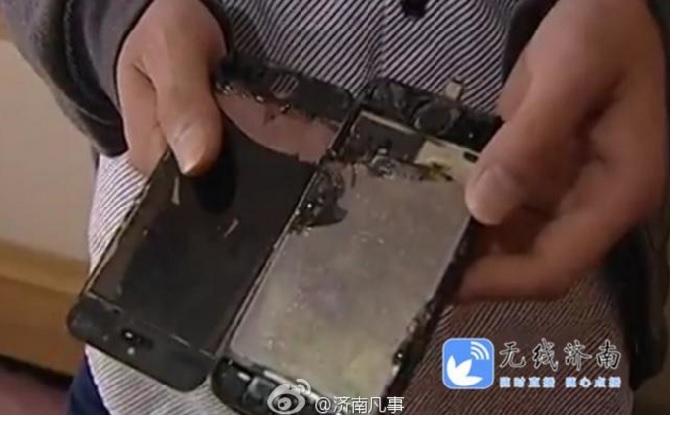 Đến lượt iPhone 5s bốc cháy khi sạc