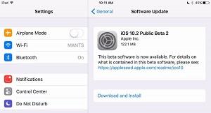 Apple mở cửa iOS 10.2 beta 2 rộng rãi cho người dùng
