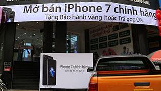 Giá iPhone 7 và 7 Plus xách tay giảm sâu, chênh cao với chính hãng