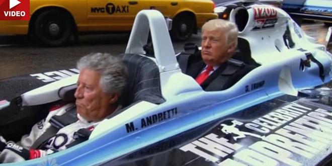 Video Donald Trump được đưa đi làm bằng xe đua F1