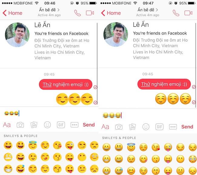 ... biểu tượng cảm xúc). emoji messenger