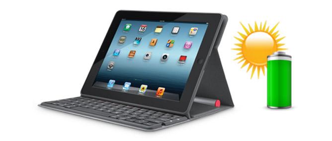 Bàn phím năng lượng mặt trời cho iPad