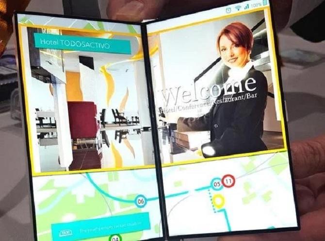 Japan Display giới thiệu màn hình smartphone có thể mở ra như quyển sách