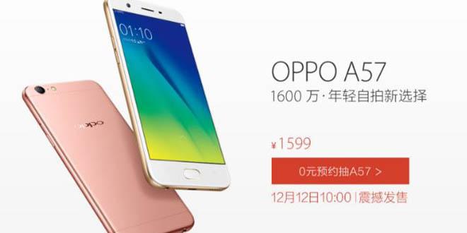 Oppo A57 chính thức: 3GB RAM, camera tự sướng 13MP, giá khoảng 239 USD