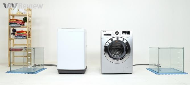 Kiểm nghiệm thực tế hiệu quả giặt tẩy giữa máy giặt lồng ngang và lồng đứng