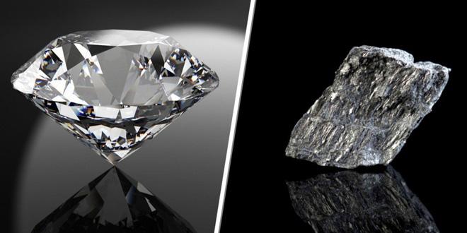 Tại sao than chì mềm nhưng kim cương lại cứng?