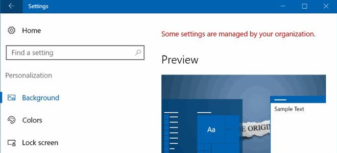Không thay ảnh nền Windows 10 được và cách xử lý