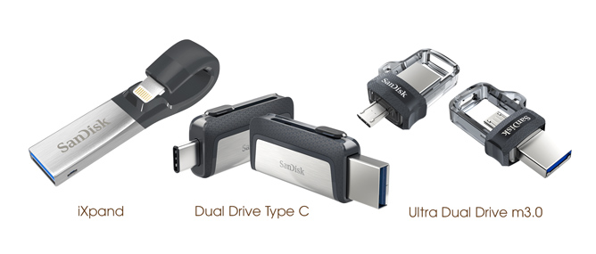 Tặng quà Noel: 3 chiếc USB 128GB của Sandisk dành cho iOS và Android