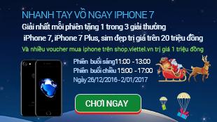 Ông già Noel phát miễn phí iPhone 7 Plus trên Shop.viettel.vn