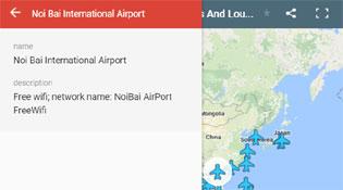 Bản đồ mật khẩu Wi-Fi của các sân bay khắp thế giới