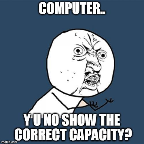 Tại sao Thẻ nhớ / USB không hiển thị đủ dung lượng như quảng cáo?