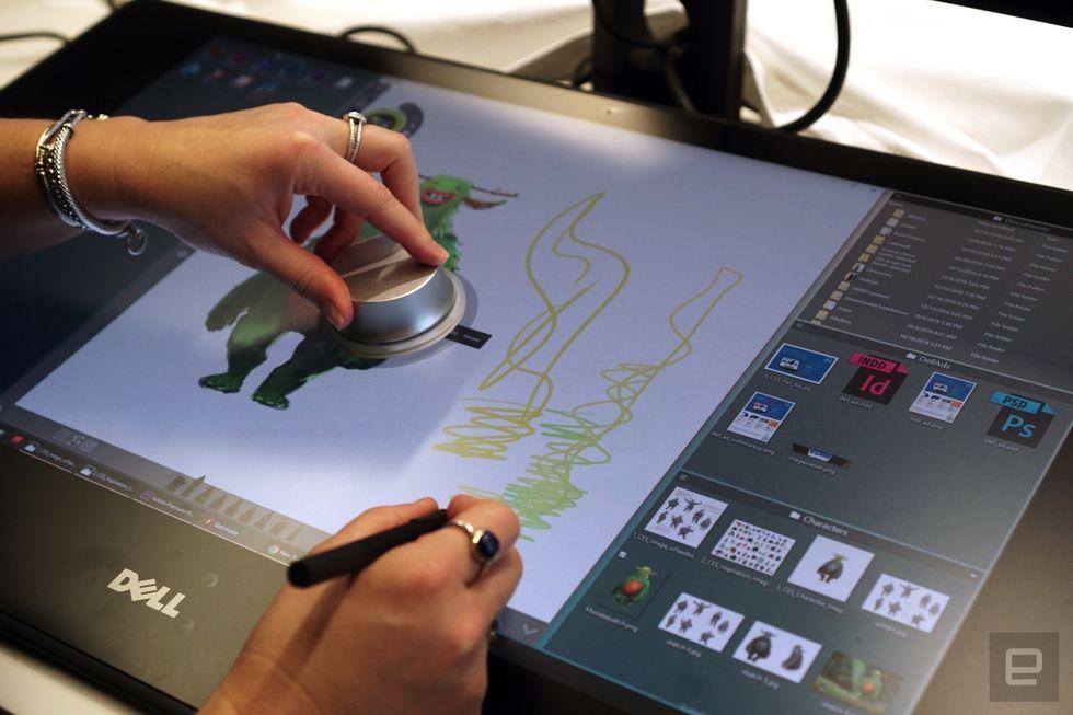 [CES 2017] Dell Canvas trình làng, màn hình 27 inch giống hệt Surface Studio
