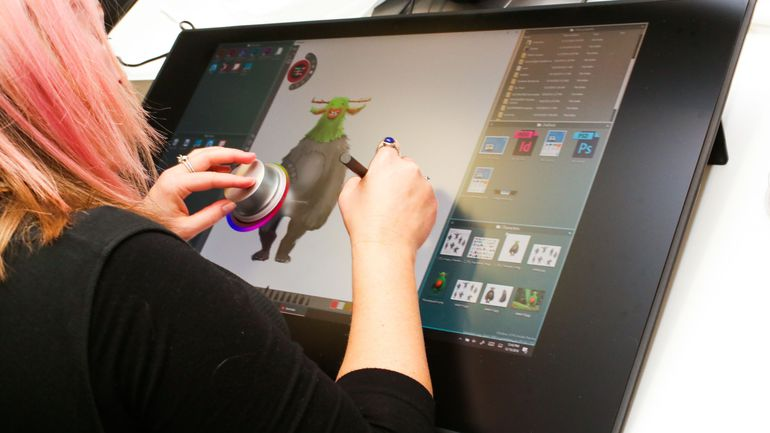 [CES 2017]: Dell Canvas - màn hình cảm ứng 27 inch tương tự Surface Studio
