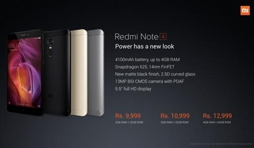 Xiaomi ra mắt Redmi Note 4 dùng Snapdragon 625, RAM 4GB, camera cải tiến, thêm màu đen nhám