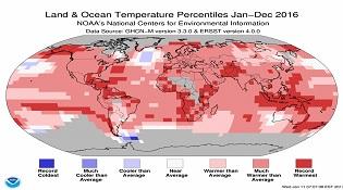 Năm 2016 là năm nóng nhất trong lịch sử, năm 2017 nhiều khả năng mát hơn