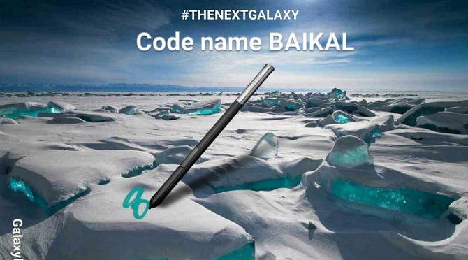 Galaxy Note 8 sẽ có tên mã là Baikal?