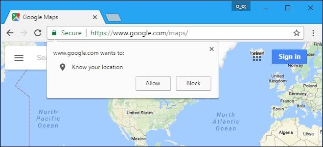 Cách tắt yêu cầu cung cấp vị trí của các trang web trên tất cả các trình duyệt