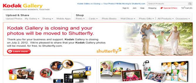 Kodak Gallery bán mình cho Shutterfly