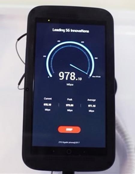 ZTE giới thiệu điện thoại 5G đầu tiên trên thế giới