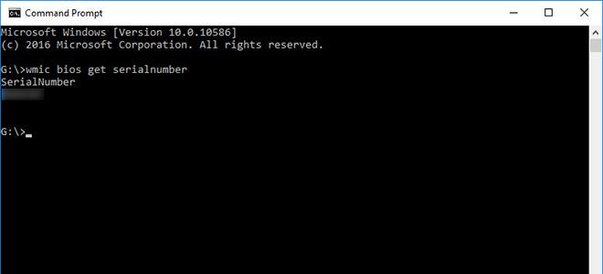 Một số cách tìm số serial của máy tính Windows