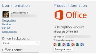 Sự khác nhau giữa Office 365 và Office 2016