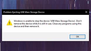 Cách tìm nguyên nhân không thể ngắt kết nối USB an toàn trên Windows