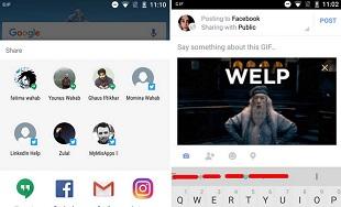 Cách tìm kiếm và chia sẻ tệp GIF trên Android